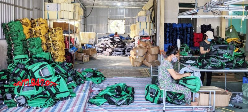 Một góc sản xuất tại nhà máy Thanh Hóa