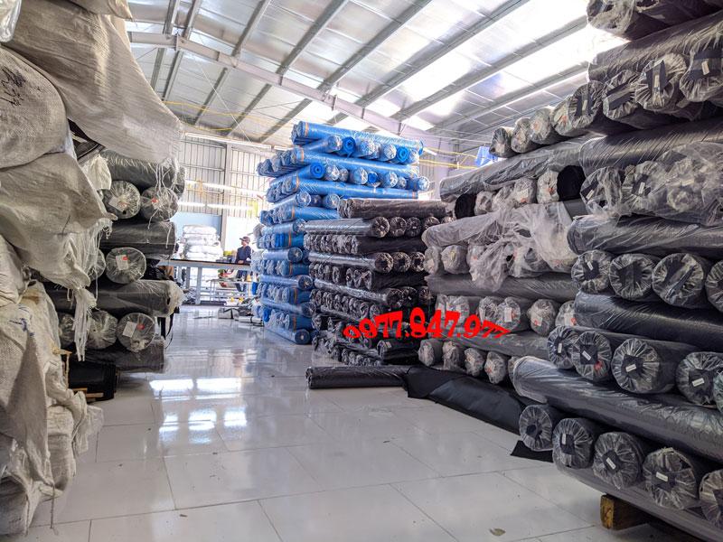 Kho nguyên liệu sản xuất của công ty Hoàng Ngân